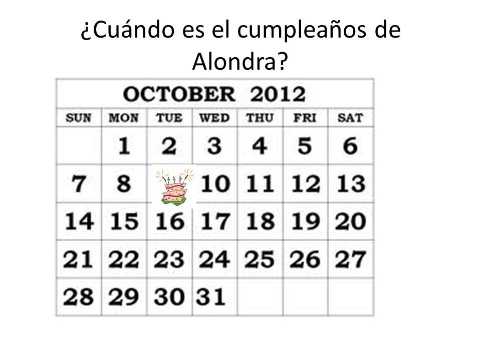 ¿Cuándo es el cumpleaños de Alondra