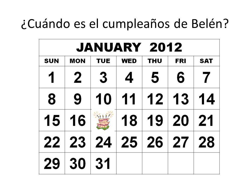 ¿Cuándo es el cumpleaños de Belén