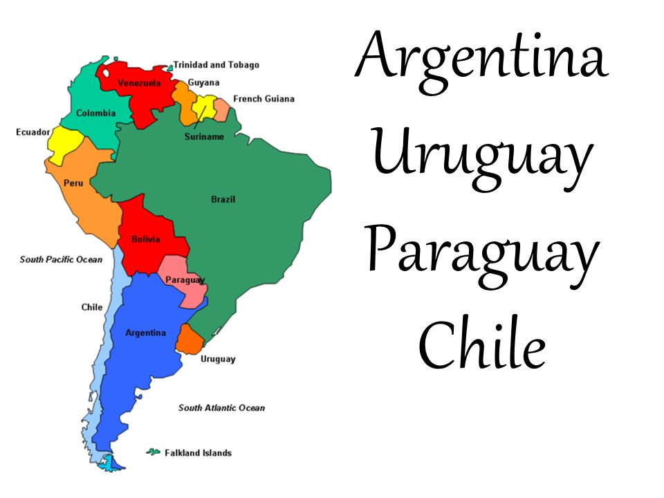 Argentina Uruguay Paraguay Chile