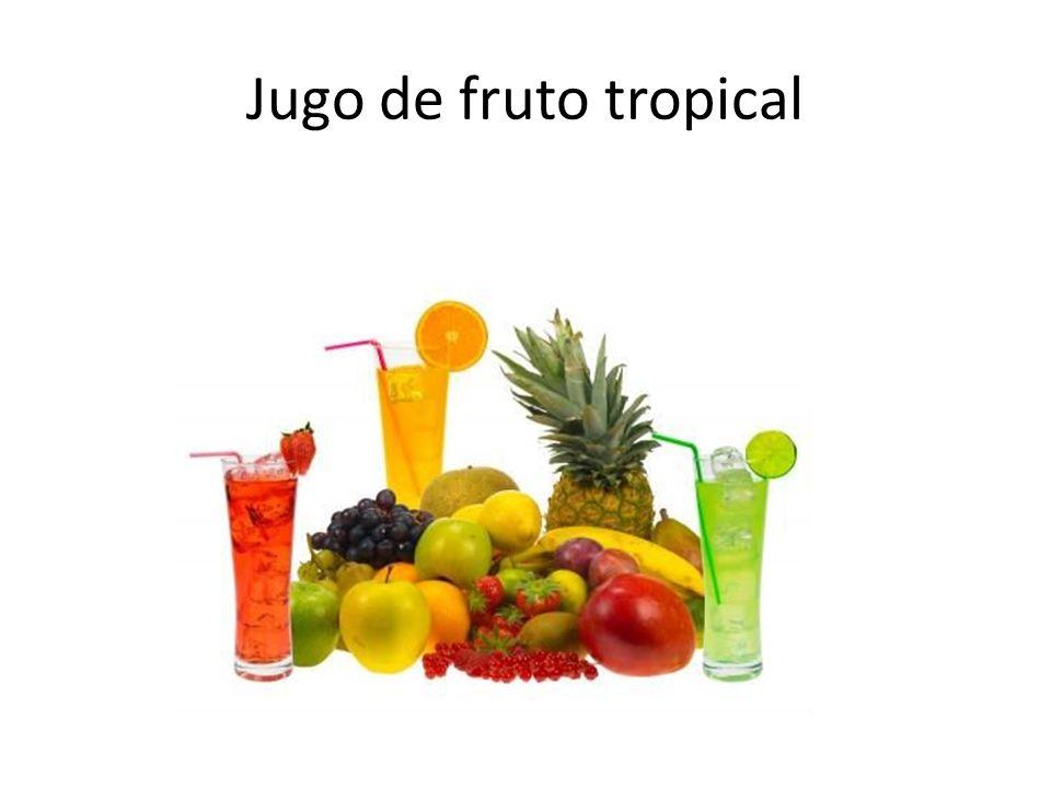 Jugo de fruto tropical
