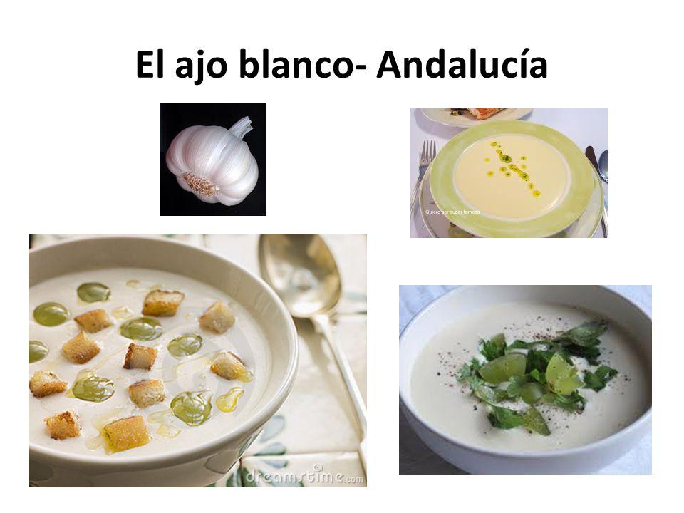 El ajo blanco- Andalucía