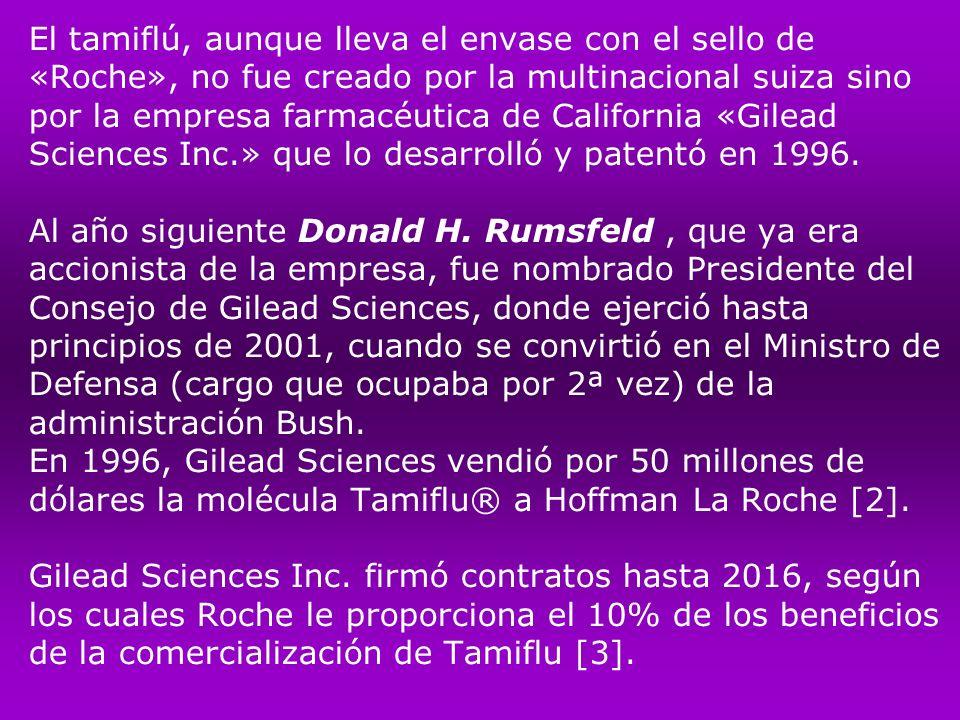 Tamiflu fue presentado primero como una medicina para el SIDA.
