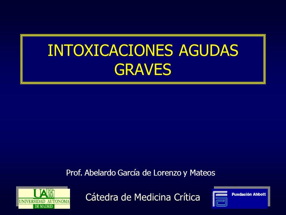 INTOXICACIONES AGUDAS GRAVES Cátedra de Medicina Crítica Prof. Abelardo García de Lorenzo y Mateos