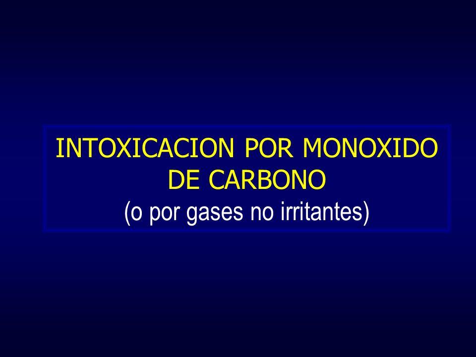 INTOXICACION POR MONOXIDO DE CARBONO (o por gases no irritantes)