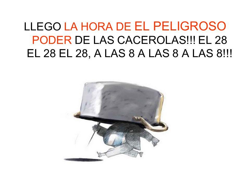 LLEGO LA HORA DE EL PELIGROSO PODER DE LAS CACEROLAS!!.
