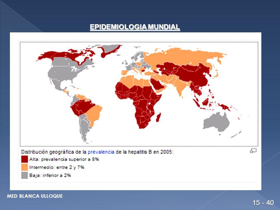EPIDEMIOLOGIA MUNDIAL 15 - 40 MED BLANCA ULLOQUE