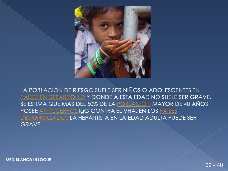 PERIODO DE INCUBACION: 15 A 30 DIAS.80% EN MENORES DE 5 AÑOS.