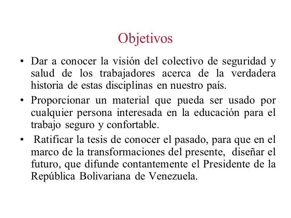 1986 Promulgación de la LOPCYMAT La alianza histórica de dirigentes sindicales (María León, Beltrán Vallejo, entre otros) y académicos (Cañizales, Ortega Díaz, Felice, entre otros) logran en el parlamento la aprobación de la LOPCYMAT.