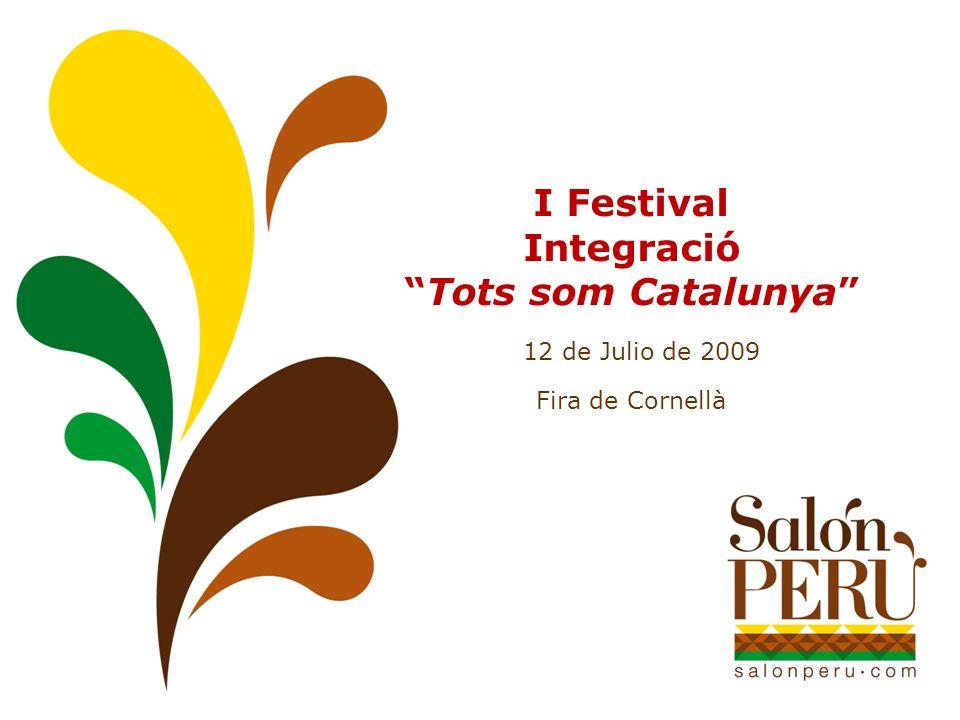 I Festival IntegracióTots som Catalunya 12 de Julio de 2009 Fira de Cornellà