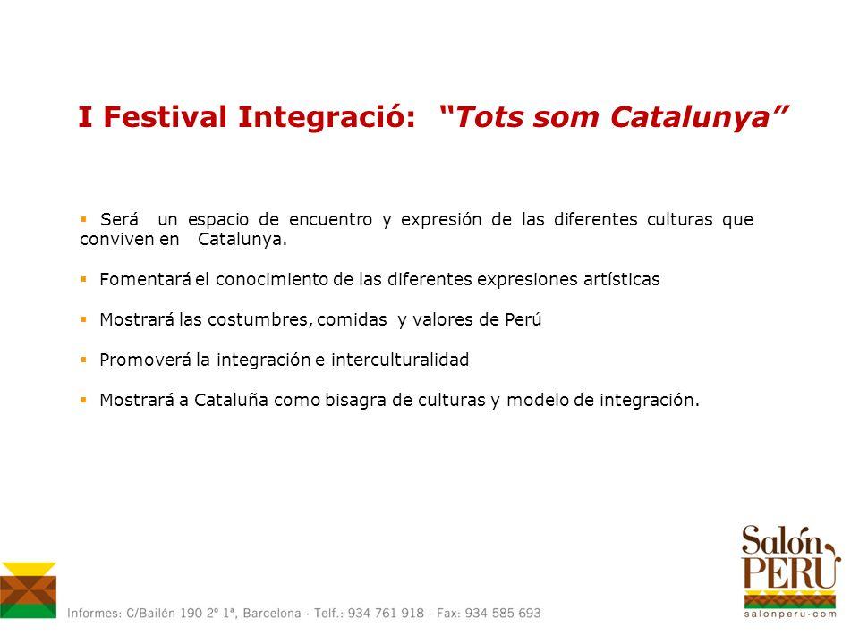 Será un espacio de encuentro y expresión de las diferentes culturas que conviven en Catalunya.