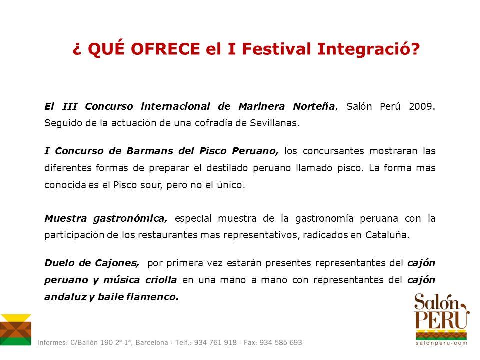 ¿ QUÉ OFRECE el I Festival Integració.
