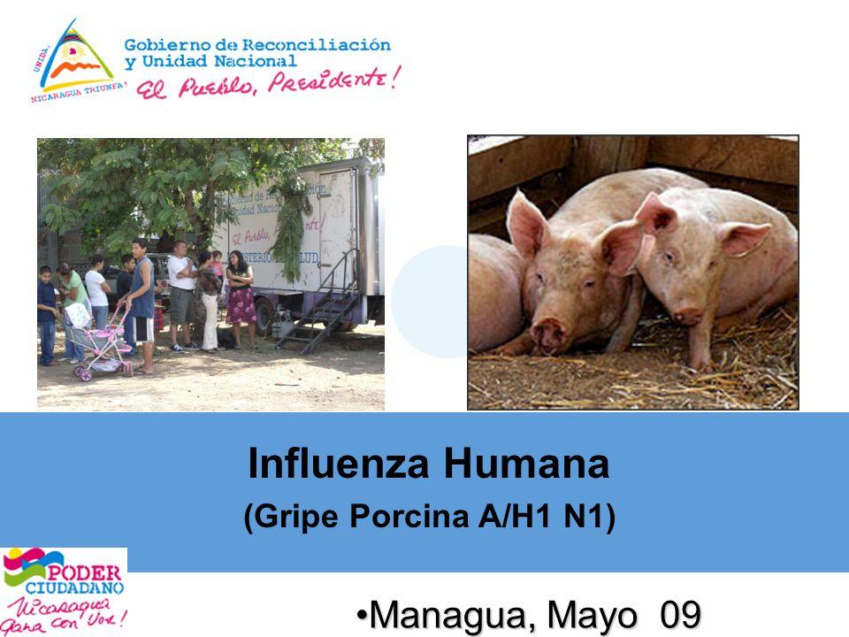 Managua, Mayo 09Managua, Mayo 09 Influenza Humana (Gripe Porcina A/H1 N1)