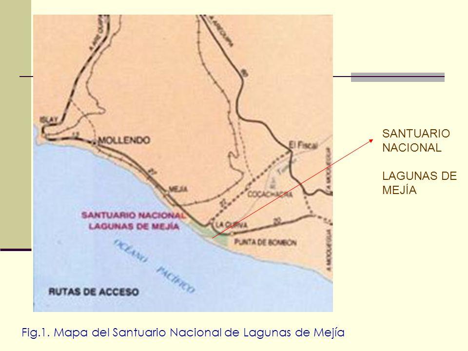 SANTUARIO NACIONAL LAGUNAS DE MEJÍA Fig.1. Mapa del Santuario Nacional de Lagunas de Mejía