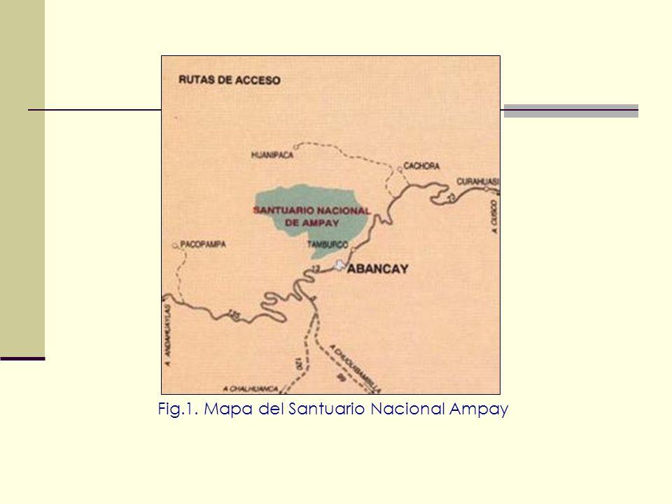 Fig.1. Mapa del Santuario Nacional Ampay