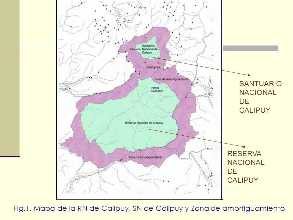 RESERVA NACIONAL DE CALIPUY SANTUARIO NACIONAL DE CALIPUY Fig.1. Mapa de la RN de Calipuy, SN de Calipuy y Zona de amortiguamiento