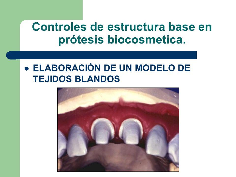 Controles de estructura base en prótesis biocosmetica. ELABORACIÓN DE UN MODELO DE TEJIDOS BLANDOS