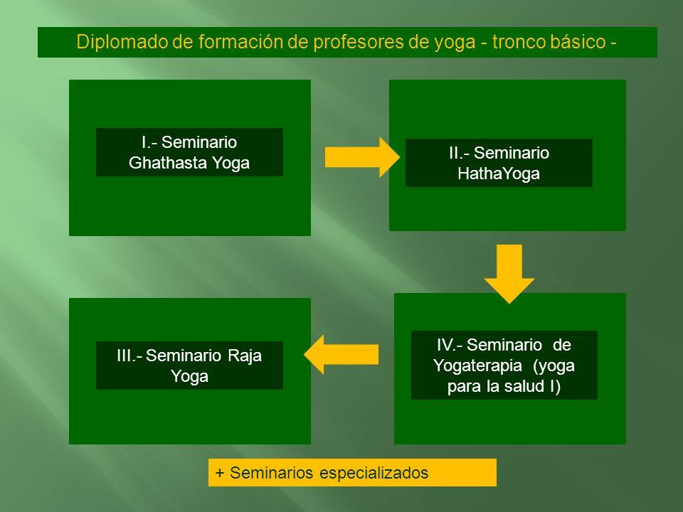 1.- Certificación como entrenador de Gathasta Yoga (72 horas). Yoga psicofísico. 2.- Certificación como profesor de Hatha Yoga (144 horas). Yoga energ