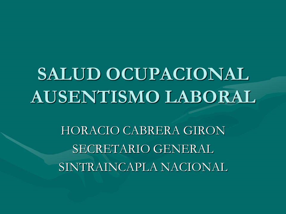 SALUD EN EL TRABAJO Proceso sistemático e interdisciplinario que busca constantemente las mejoras en las condiciones de salud y seguridad de los trabajadores en su sitio de labor.
