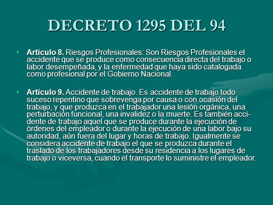 ENFERMEDAD PROFESIONAL Artículo 11.Enfermedad Profesional.