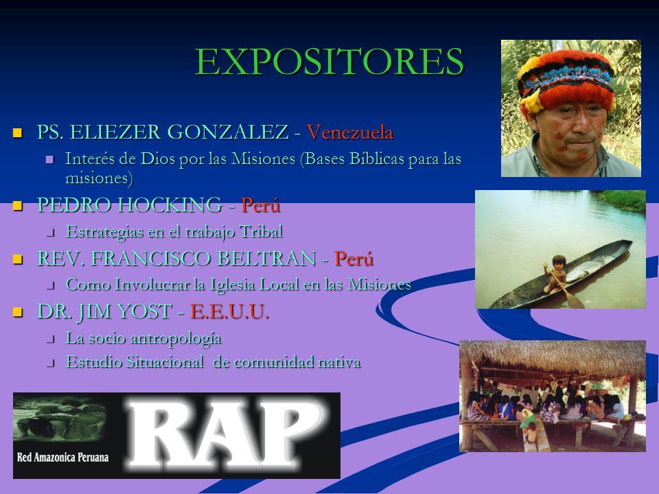 EXPOSITORES PS. ELIEZER GONZALEZ - Venezuela PS.