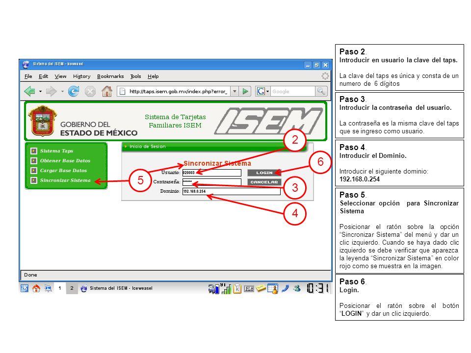 Después de un momento aparecerá en la ventana pequeña el mensaje de Base de datos obtenida junto con un botón de cerrar tal como se muestra en esta imagen.