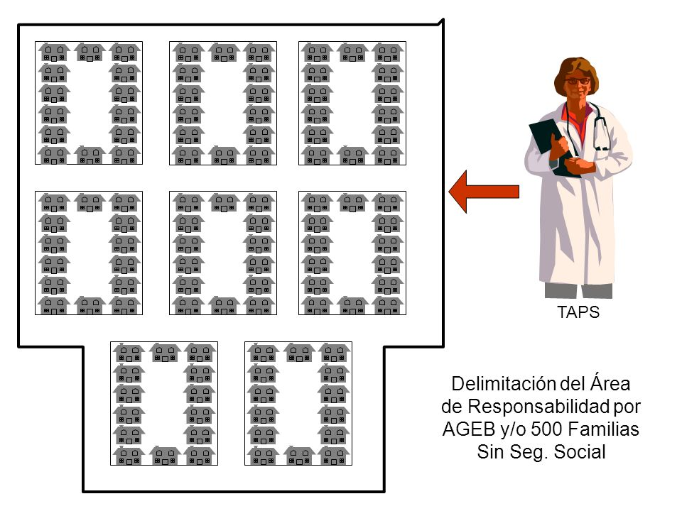 TAPS Delimitación del Área de Responsabilidad por AGEB y/o 500 Familias Sin Seg. Social