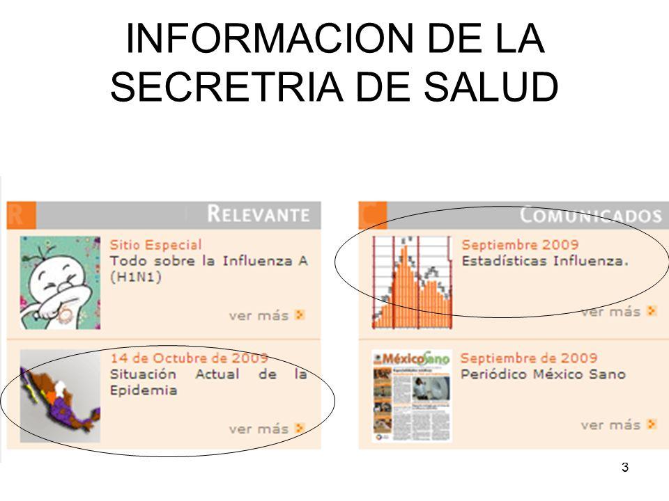 3 INFORMACION DE LA SECRETRIA DE SALUD