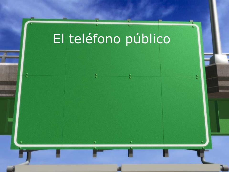 El teléfono público