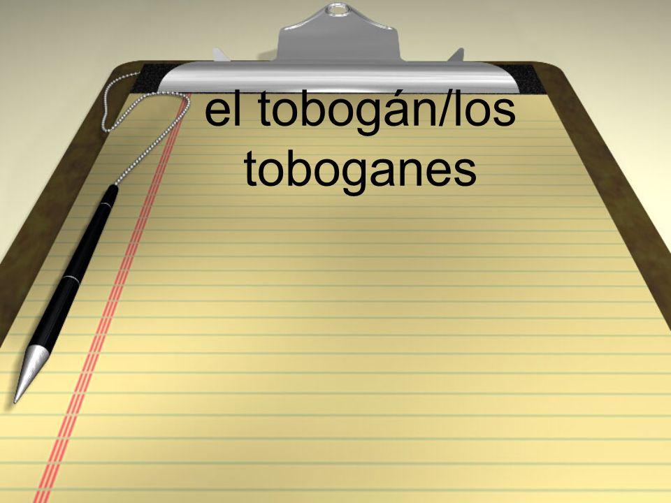 el tobogán/los toboganes