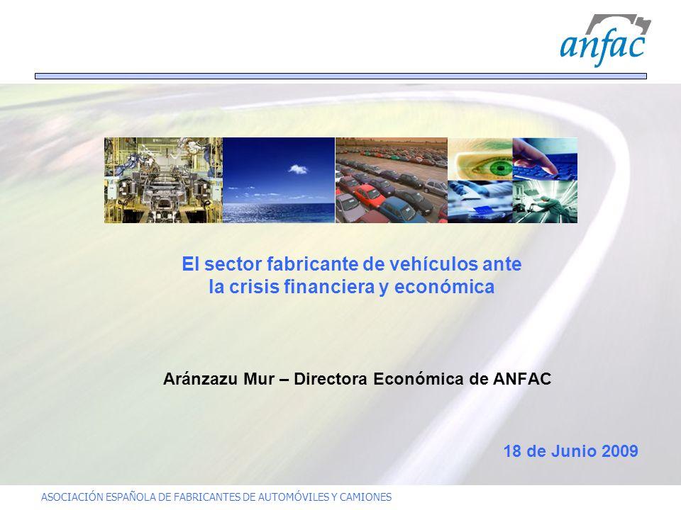 ASOCIACIÓN ESPAÑOLA DE FABRICANTES DE AUTOMÓVILES Y CAMIONES El sector fabricante de vehículos ante la crisis financiera y económica Aránzazu Mur – Di