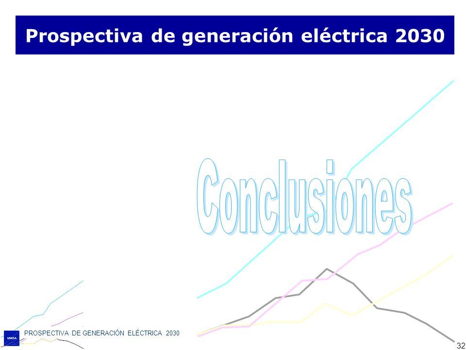 PROSPECTIVA DE GENERACIÓN ELÉCTRICA 2030 32 Prospectiva de generación eléctrica 2030