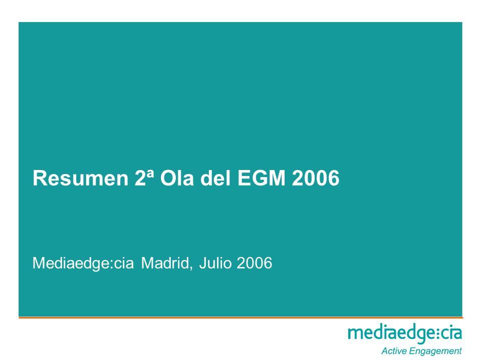 Resumen 2ª Ola del EGM 2006 Mediaedge:cia Madrid, Julio 2006