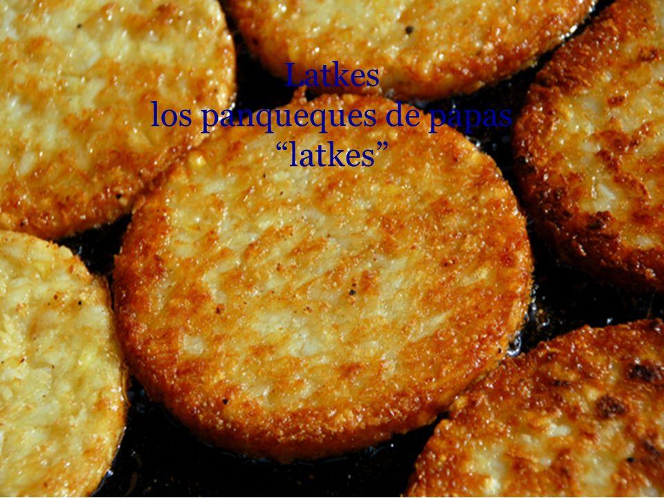 Latkes los panqueques de papas latkes