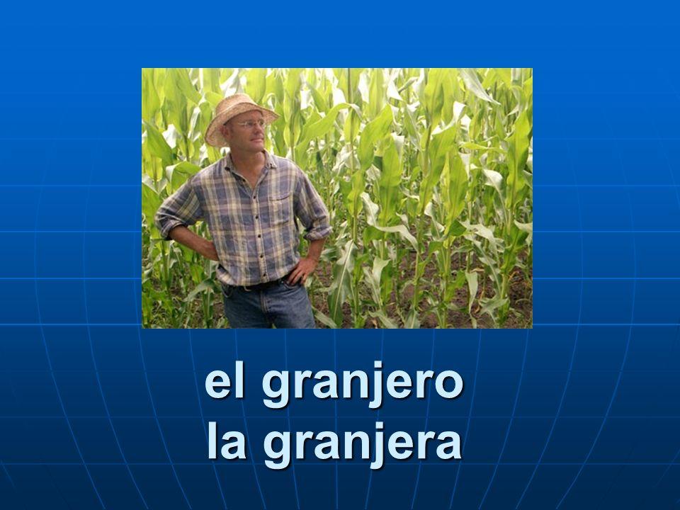 el granjero la granjera