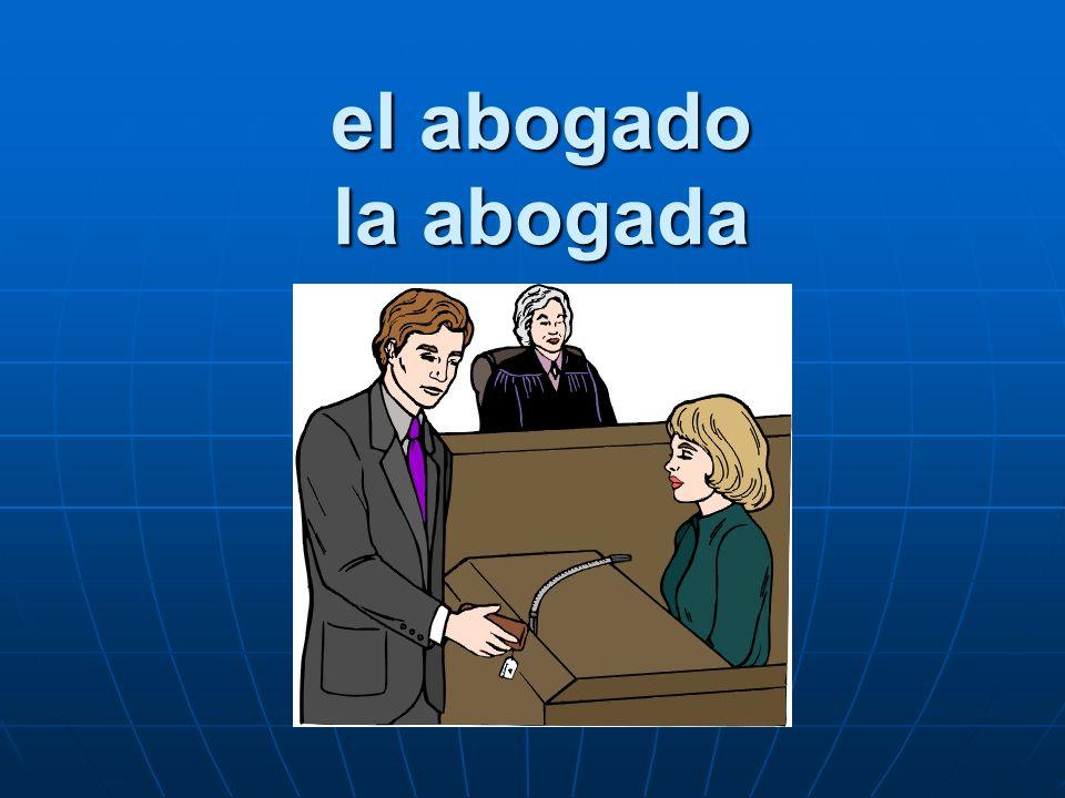 el abogado la abogada