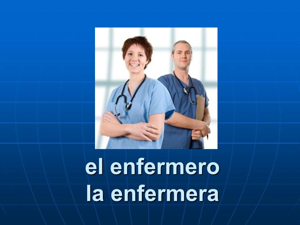 el enfermero la enfermera