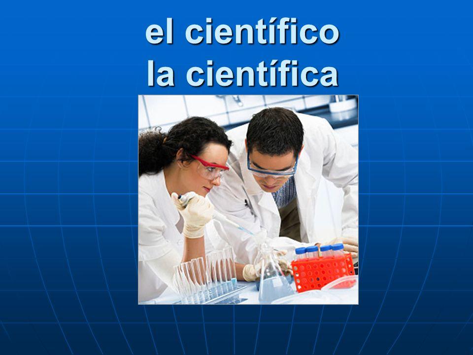 el científico la científica