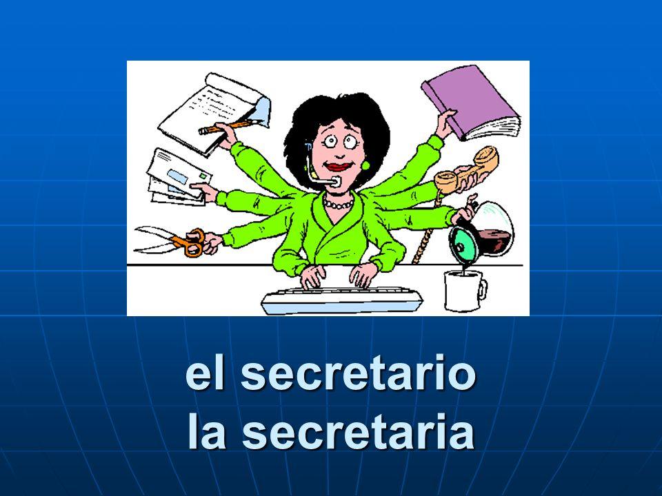 el secretario la secretaria