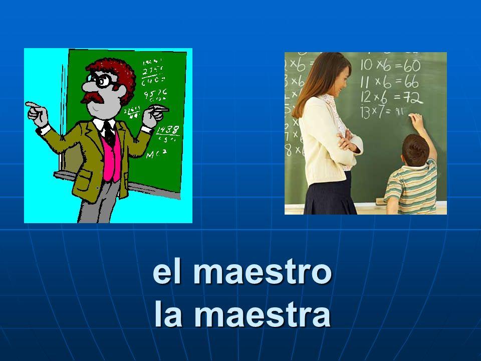 el maestro la maestra