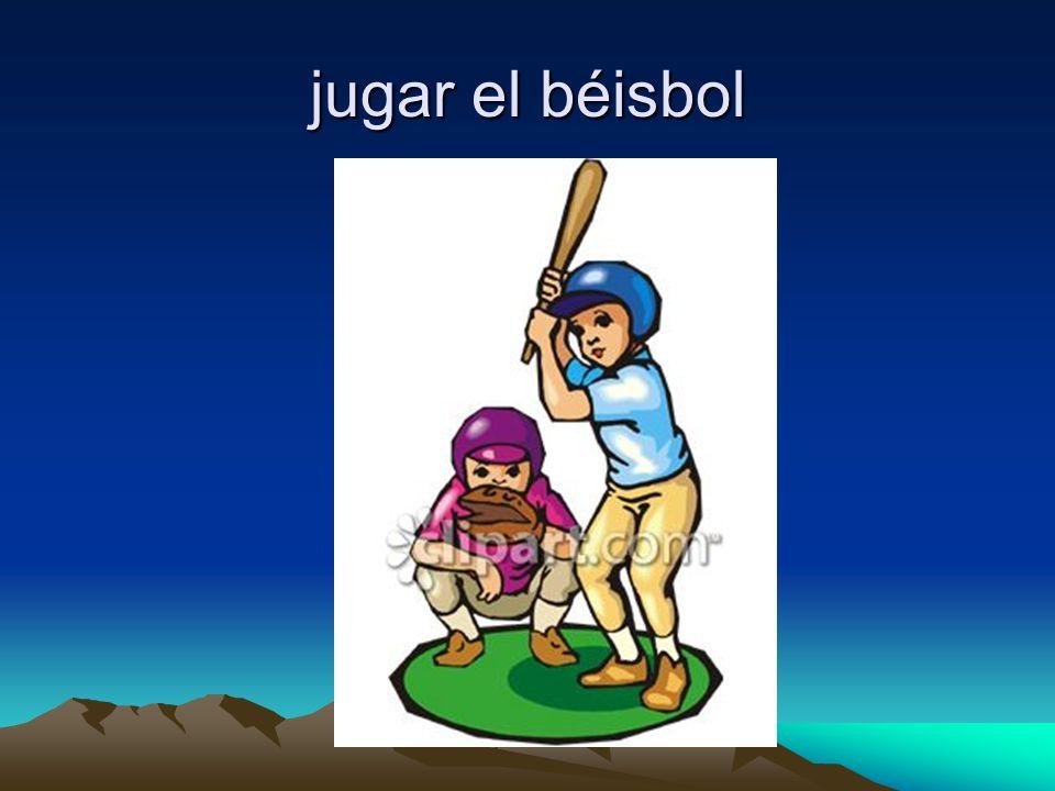 jugar el béisbol