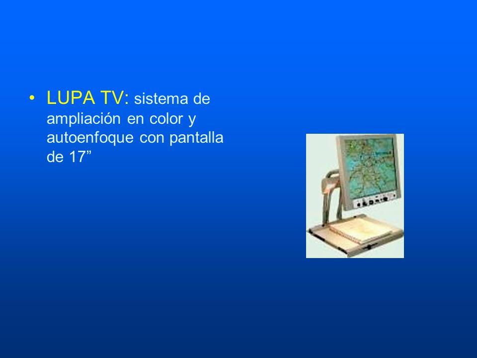 LUPA TV: sistema de ampliación en color y autoenfoque con pantalla de 17