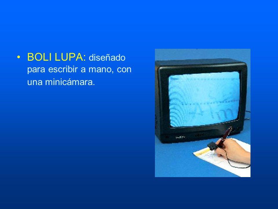 BOLI LUPA: diseñado para escribir a mano, con una minicámara.