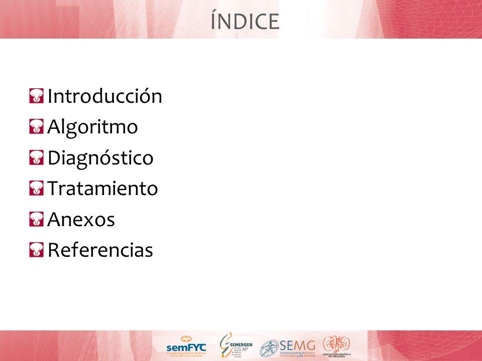 ÍNDICE Introducción Algoritmo Diagnóstico Tratamiento Anexos Referencias