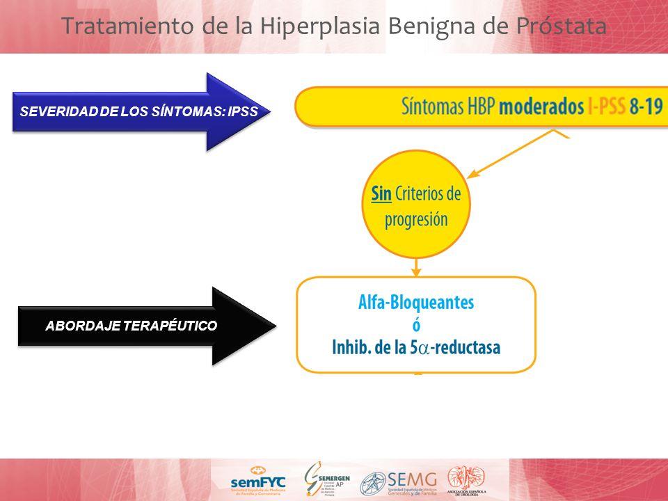 ABORDAJE TERAPÉUTICO: Tratamiento de la Hiperplasia Benigna de Próstata SEVERIDAD DE LOS SÍNTOMAS: IPSS ABORDAJE TERAPÉUTICO