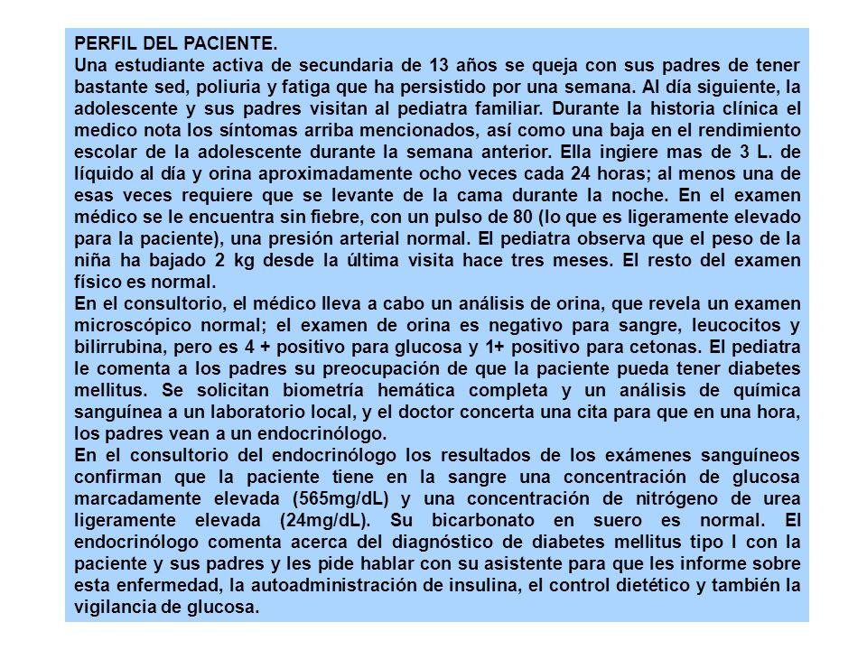 Características del paciente Pacientes enrolados Edad Diagnóstico Duración de la enfermedad Trastornos médicos anteriores 13 a 39 años Diabetes mellitus insulinodependiente 1 a 5 años Ausencia de hipertensión, hipercolesterolemia, trastornos y complicaciones diabéticas o médicas Sin retinopatía, excreción urinaria de albúmina menor a 40 mg cada 24 horas Cuadro 7 - 7.