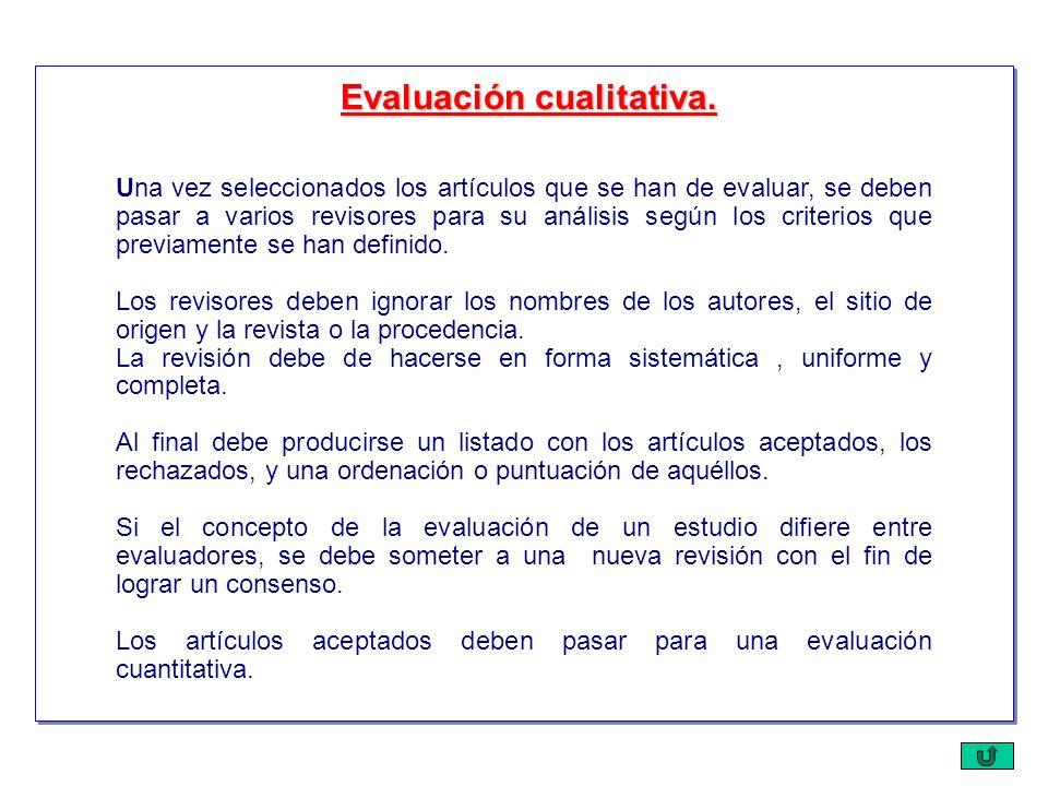 Una vez seleccionados los artículos que se han de evaluar, se deben pasar a varios revisores para su análisis según los criterios que previamente se h