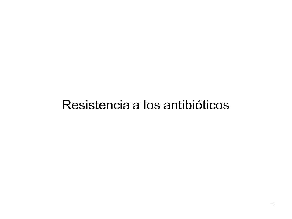 1 Resistencia a los antibióticos
