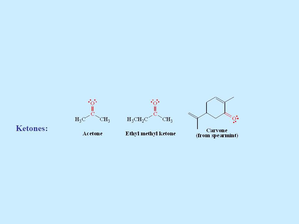 CETONAS: Nomenclatura * La cetona más sencilla tiene el nombre trivial de acetona.