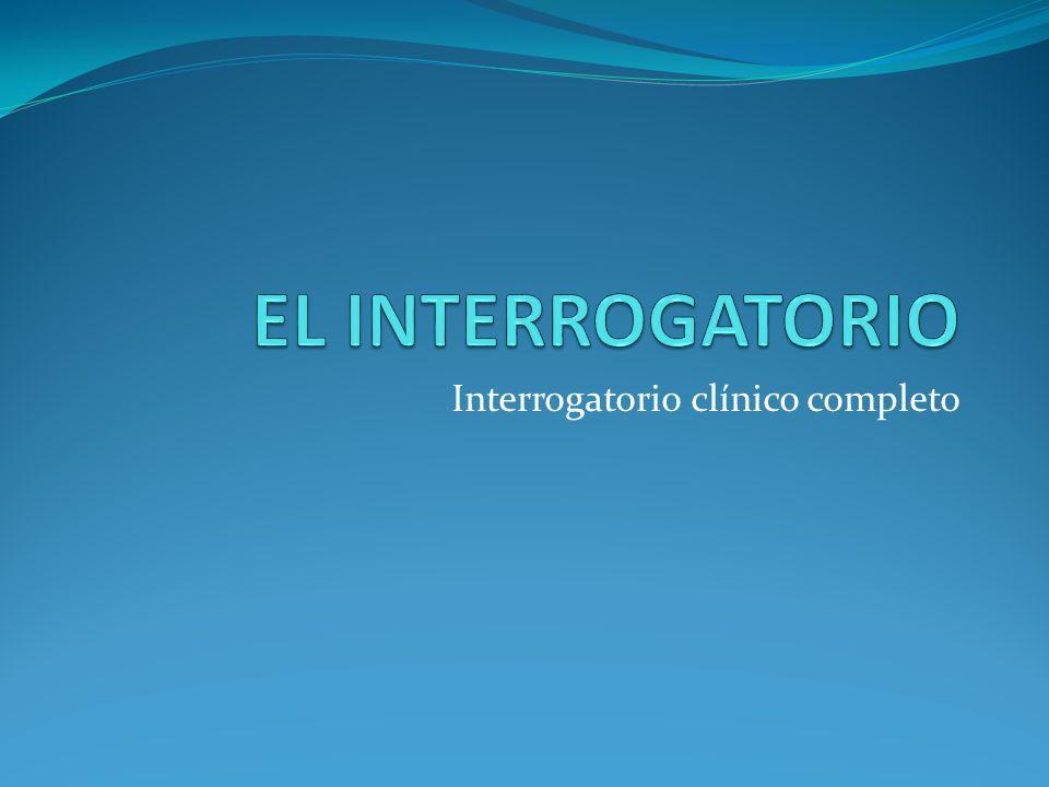 Interrogatorio clínico completo