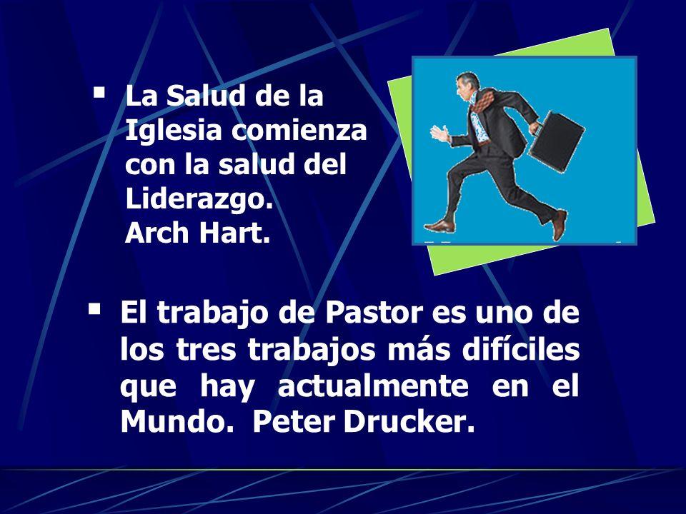 E l trabajo de Pastor es uno de los tres trabajos más difíciles que hay actualmente en el Mundo. Peter Drucker. L a Salud de la Iglesia comienza con l